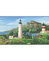 Green Lake Lighthouse Border by