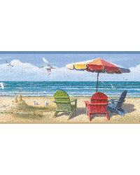 Blue Summer At The Beach Border by