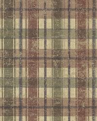 Nellie Brick Wooden Plaid by  Brewster Wallcovering