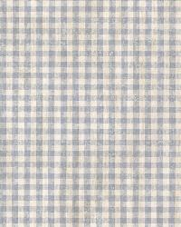 Greer Blue Gingham Check by  Brewster Wallcovering
