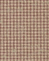 Greer Burgundy Gingham Check by  Brewster Wallcovering