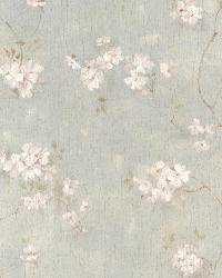 Dixie Aqua Floral Trail by  Brewster Wallcovering