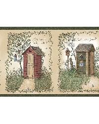 Fisher Sage Country Outhouses Border by