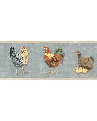 Bailey Sky Rooster  Script Border by