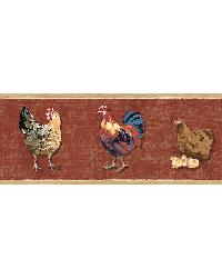 Bailey Brick Rooster  Script Border by