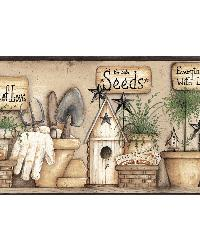 Harlow Black Everything Grows With Love Border by