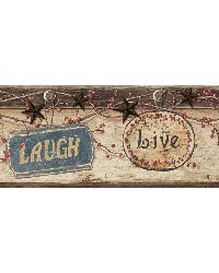 Kinsey Blue Live Laugh Love Border by