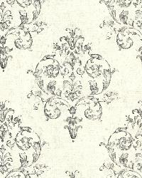 Arronsburg Ivory Damask by  Brewster Wallcovering