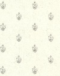 Bristol Ivory Medallion Toss by  Brewster Wallcovering