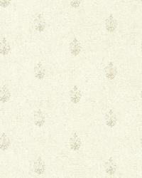 Bristol Linen Medallion Toss by  Brewster Wallcovering
