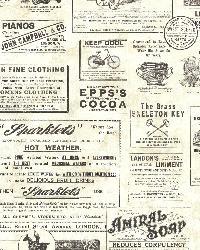 Adamstown Cream Vintage Newspaper by