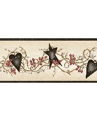 Paxton Black Tin Hearts  Stars Border by