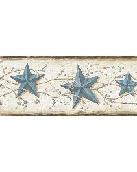 June Blue Heritage Tin Star Border by