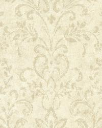 Presley Sand Country Damask by  Brewster Wallcovering