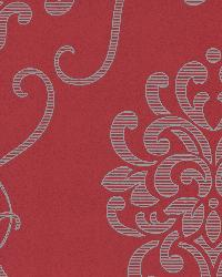 Suzette Red Modern Damask Red by