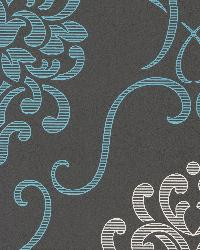 Suzette Aqua Modern Damask Aqua by