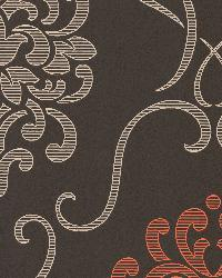 Suzette Brown Modern Damask Brown by