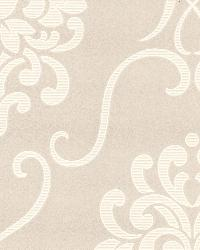 Suzette Taupe Modern Damask Taupe by