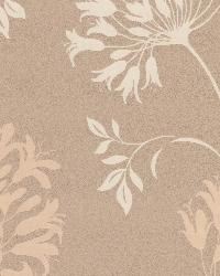 Nerida Taupe Floral Silhouette Taupe by