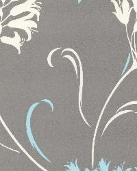 Nerida Light Grey Floral Silhouette Light Grey by