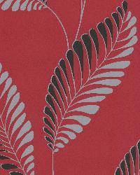 Aubrey Red Modern Leaf Trail Red by