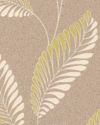 Aubrey Taupe Modern Leaf Trail Taupe by