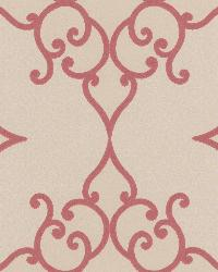 Sebastian Red Crepe Moroccan Medallion by