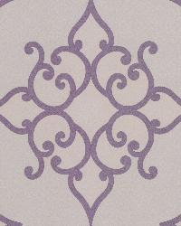 Sebastian Purple Crepe Moroccan Medallion by