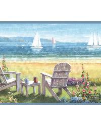 Barnstable Blue Seaside Cottage Border by