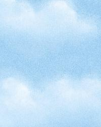 Madeira Blue Puffy Clouds by  Brewster Wallcovering