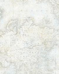 Hardings Grey World Map by  Brewster Wallcovering