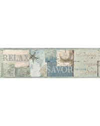 Sagamore Blue Cape Cod Border by  Brewster Wallcovering