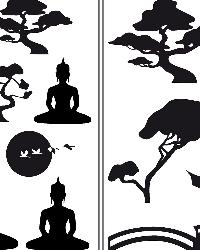 Asian Feeling Wall Decals by