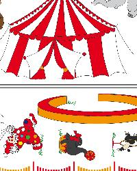 Circus Circus Wall Decals by