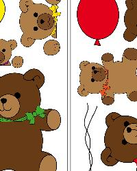 Teddy Bears Wall Decals by
