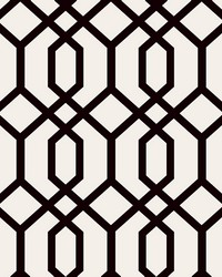 Trellis Black Montauk Wallpaper by