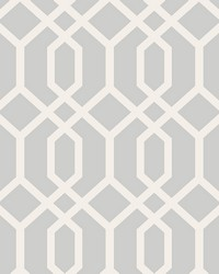 Trellis Grey Montauk Wallpaper by