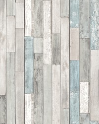 Barn Board Grey Thin Plank Wallpaper by
