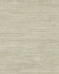Woven Beige Grasscloth Wallpaper by