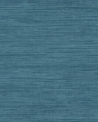 Sea Grass Blue Grasscloth Wallpaper by