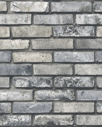 Painted Grey Brick Wallpaper by