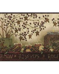 Brown Potpourri Border by