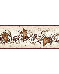 Neutral Tin Hearts Stars Border by