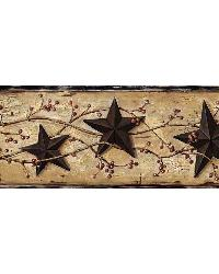 Black Heritage Tin Star Border by