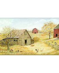 Brown Farmstead Border by