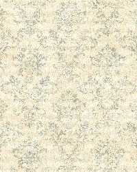 Cream Stencil Damask by
