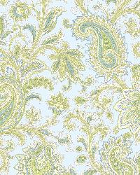 Sadie Blue Paisley Swirl Wallpaper by
