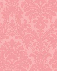 Kourtney Pink Baroque Damask Wallpaper by