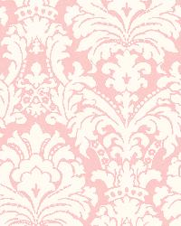 Ginger Pink Brocade Damask Wallpaper by