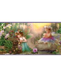 Suzette Purple Fairyland Portrait Border by